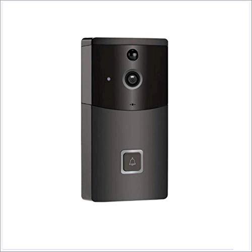 EMGOD Videoportero inalámbrico Remoto Timbre de la Puerta, Vigilancia móvil infrarroja Lente de la cámara HD 720P Soporte de visión Nocturna por Infrarrojos Adecuado para iPhone, Android