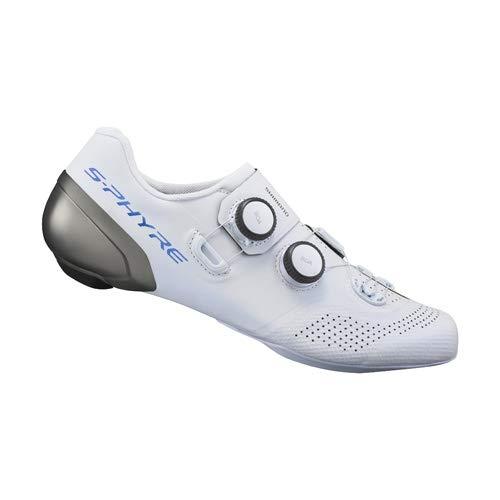 SHIMANO S-PHYRE RC9 (RC902) SPD-SL - Scarpe taglia 42, colore: Bianco