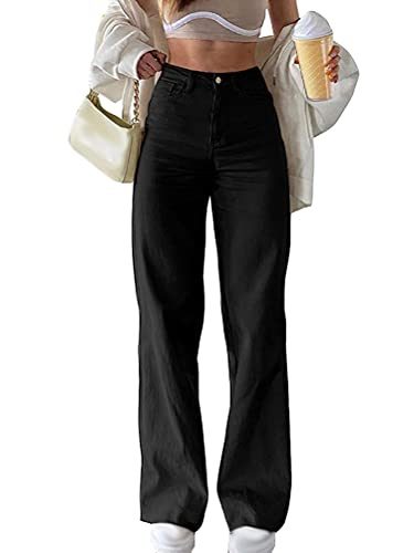 Minetom Damen Jeanshosen Vintage Straight Jeans...