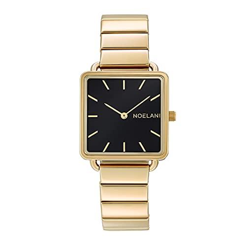 NOELANI Reloj de cuarzo para mujer, acero inoxidable IP dorado.
