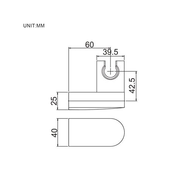 Ibergrif M20403 Soporte Articulado Mano, Complementos de Ducha, Plata