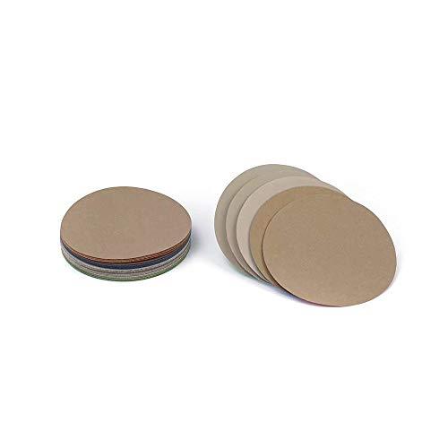 Runde, Nasse, Trockene Wasserschleifscheiben Körnung 3000/4000/5000/7000/10000 Klett-Schleifpapier-Scheibe Sandblatt 20 Teile/los 150 mm, 6 Zoll, Sortiertes set