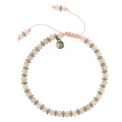 Lola Rose Oxford Bracelet Rose Quartz