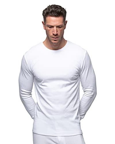 Abanderado Termal algodón Invierno C/Redondo Camiseta térmica para Hombre, Blanco, M/48