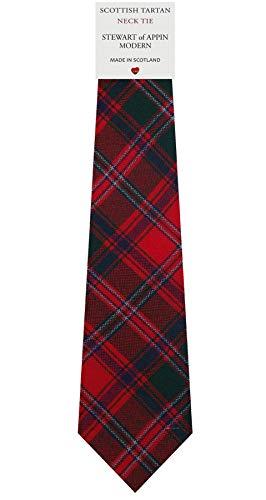 I Luv Ltd Cravate en Laine pour Homme Tissée et Fabriquée en Ecosse à Stewart of Appin Modern Tartan