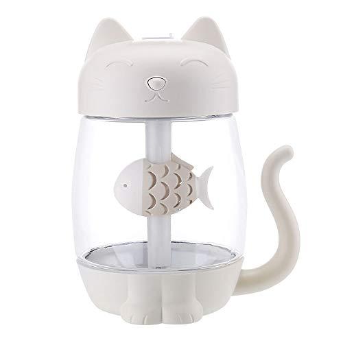 YOUTOPCOOL Kitty Cat humidificador Tres en un Ventilador de luz LED Coche purificador de Aire USB Office Hogar humidificador Mini luz de la Noche