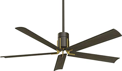 Minka-Aire F684L-ORB/TB Clean 60 Inch Ceiling Fan with Integrated 10W LED Light and DC Motor in Oil Rubbed Bronze/Toned Brass Finish