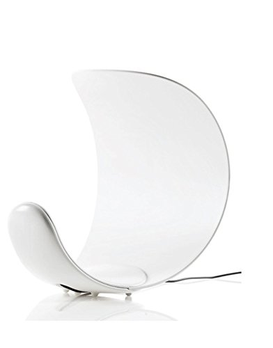 Luceplan Curl D76, Lampada LED da Tavolo, Bianco, plastica