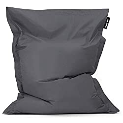 BAZAAR BAG - Giant floor cushion from Bean Bag Bazaar with excellent quality construction and design we well as massive dimensions, some of the biggest on Amazon - 180cm x 140cm INDOOR OUTDOOR - Perfect for relaxing, watching TV, laying out in the ga...