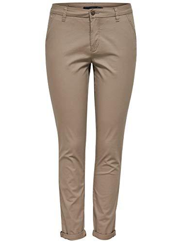 ONLY Damen onlPARIS REG SK Chino Pants PNT NOOS Hose, Braun (Desert Taupe), 34/L34