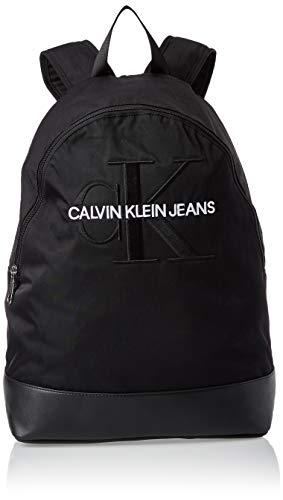 Calvin Klein Herren Monogram Nylon Cp Bp W/O Pocket Rucksack Schwarz (Black)