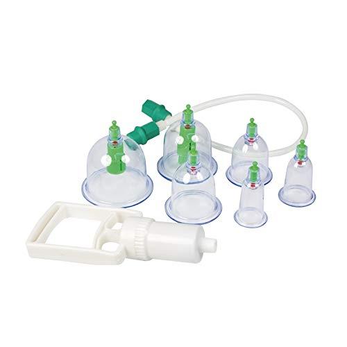 Schröpfen Set, Vakuummassage mit Schröpfgläser aus Plastik (Set 6tlg.)