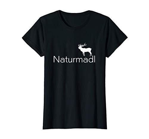Damen Naturmadl Hirsch Jagd Bayern Trachten T-Shirt