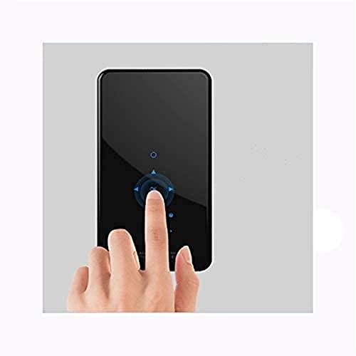 FDGSD Proyector portátil Panel táctil Inteligente Lente Protectora Antideslizante a Prueba de Polvo Gire el Enfoque hacia la Izquierda y hacia la Derecha Actualice WiFi de Doble Banda Bluetooth 4.