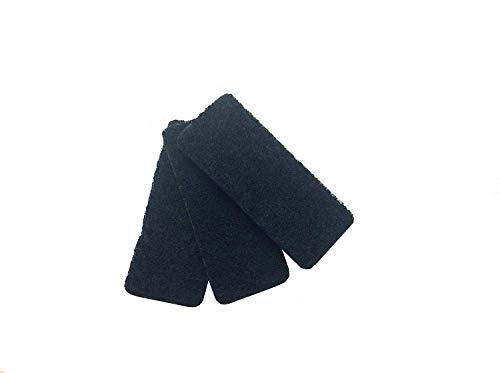 Rotho Bio 3er-Set Ersatzfilter für Komposteimer mit Aktivkohlefilter, Aktivkohlefilter, schwarz, (15,4 x 6,3 x 0,8 cm)