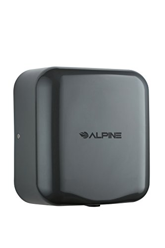 Alpine Industries 400-10-GRY Alpine Hemlock Automatic Hand Dryer - Heavy Duty Stainless Steel - Commercial High Speed Hot Air Hand Blower   1800Watts   110-120Volts   Quick & Easy...