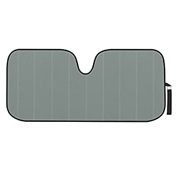 Motor Trend Front Windshield Sun Shade - Jumbo Accordion Folding Auto Sunshade for Car Truck SUV - Blocks UV Rays Sun Visor Protector - Keeps Your Vehicle Cool - 66 x 27 Inch