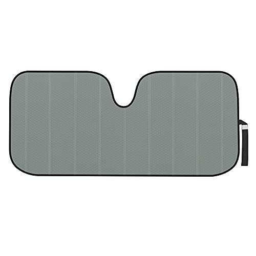 Motor Trend Front Windshield Sun Shade - Accordion Folding Auto Sunshade for Car Truck SUV - Blocks UV Rays Sun Visor Protector - Keeps Your Vehicle Cool - 58 x 24 Inch (Gray)