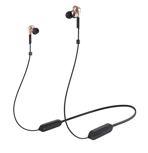 audio-technica SOLID BASS ワイヤレスイヤホン 重低音 Bluetooth マイク付 カッパーゴールド ATH-CKS660XB...