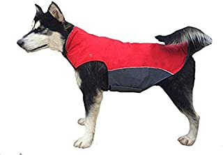 BONAWEN Winter Dog Coat Waterproof for Extra Large,Large Dog with Leash Hole, Chest up to 39