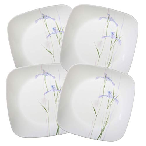 Corelle Square Shadow Iris 6.5' Appetizer Dessert Plate (Set of 4)