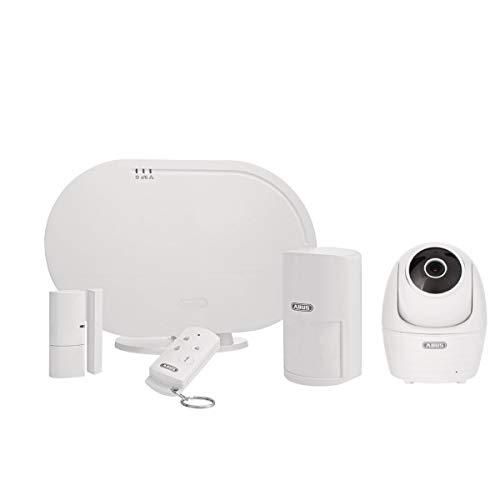 ABUS Basisset FUAA35001A Smartvest, Alarm Zentrale, Funk Öffnungsmelder, Fernbedienung inklusive Innenkamera Raumüberwachung Sicherheitskamera | Benachrichtigung via Smartphone