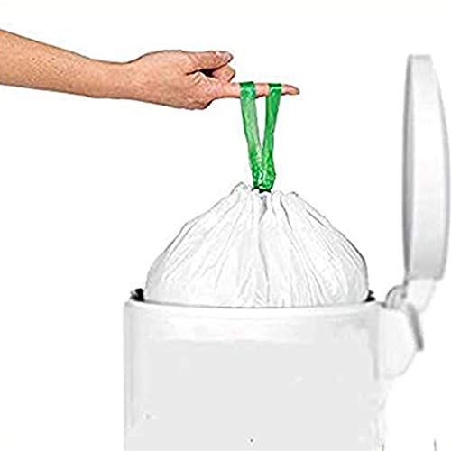 Palucart® 5 Rotoli da 10 Sacchetti con Manico prendifacile 50pz per Raccolta Umido 35 Litri Organico compostabili e biodegradabili f.to 50 x 60