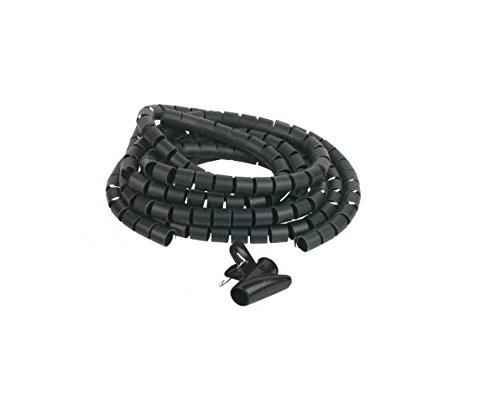 C63® - 2 meter zwarte kabel kan op maat worden gesneden. Wordt geleverd met kabelinsteekgereedschap