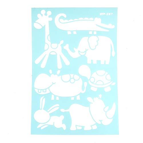 Homeford - Plantilla para estarcir (28 cm), diseño de animales