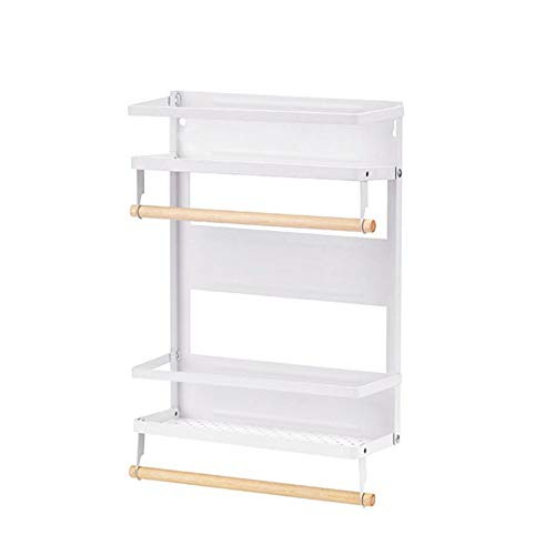 Opvouwbare zijtafels voor de koelkast, magnetische folie, opslag, keuken, huis, servet, van papier Wit