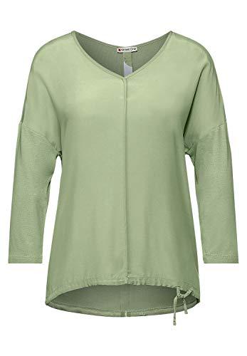 Street One Damen 316016 T-Shirt, Faded Green, 44