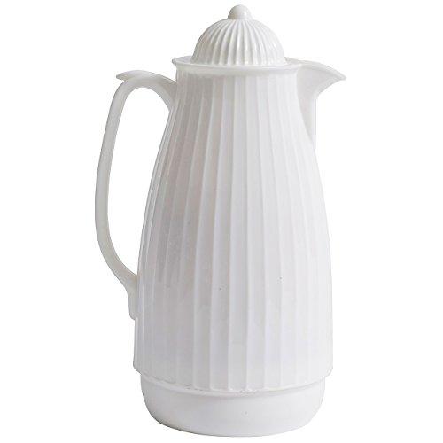 NORDAL 7989 - Jarra térmica (1000 ml, 28 cm), color blanco