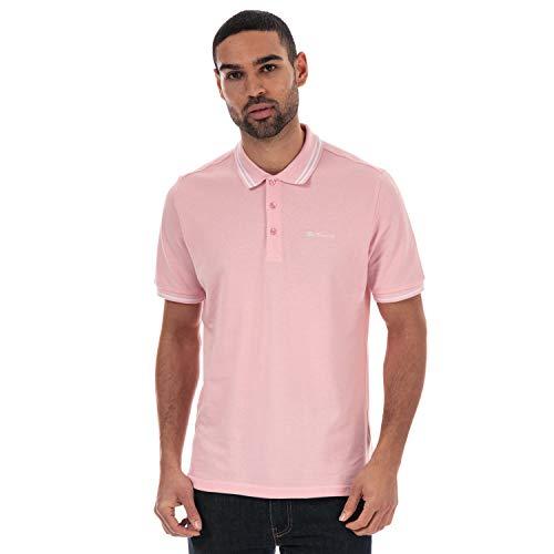 Ben Sherman Mens Mens Twin Tipped Polo Shirt in Pink L