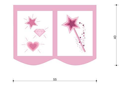 XXL Discount Sac de rangement pour lit d'enfant - Dimensions : 55 x 40 cm - 100 % coton - Accessoires de lit - Lit superposé - Lit mezzanine - Sac en tissu (bleu/rose/licorne)