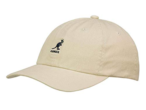 Kangol Washed Baseball Cap aus Baumwolle - Beige (KH262) - One Size