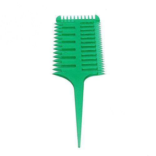 HENGSONG Salon Barbiers Peigne 2 En 1 Queue De Poisson Forme D'Os Extensions De Cheveux Styling Démêlant Coloration Peigne Pour Slicked-Back, Vert