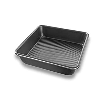 USA Pan Patriot Pan Bakeware Aluminized Steel 8-Inch Square Cake Pan
