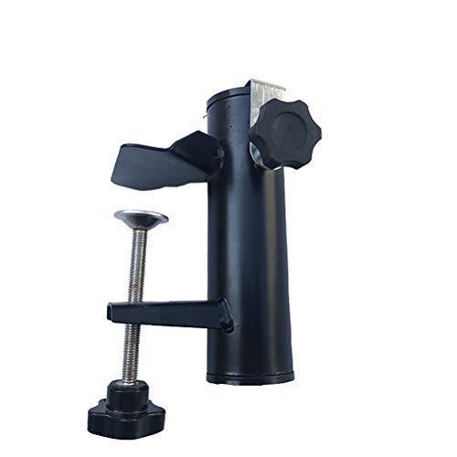 Stecto - Abrazadera para sombrilla de balcón y sombrilla de acero resistente para valla cuadrada de balcón, barandillas de balcón, fácil de instalar, 19-38 mm