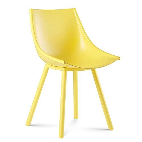 WSDSX Stuhl Modern Design Esszimmerstühle Loungesessel Rückenlehne Design Anti-UV-Kaffeestuhl Metallbein Lagergewicht 150 kg Modern Lounge Büromöbel (Farbe: Orange)