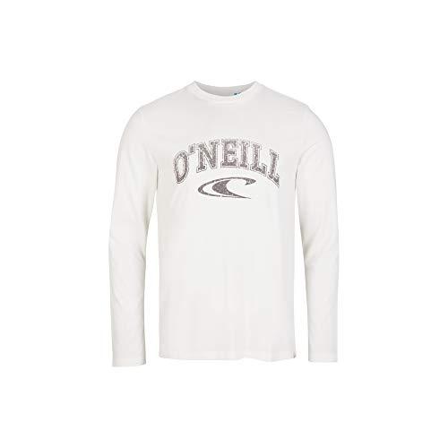 O'NEILL State - Camiseta de manga larga para hombre, Hombre, Camiseta, 1A2105, blanco, small