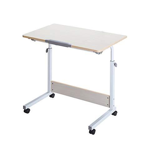 LQIAN Bett Rolltisch Pflegetisch,Multifunktion Höhenverstellbar Beistelltisch Mit Rollen,Sofatisch Laptopständer,Kann In Schlafzimmern, Büros Und Am Bett Verwendet Werden
