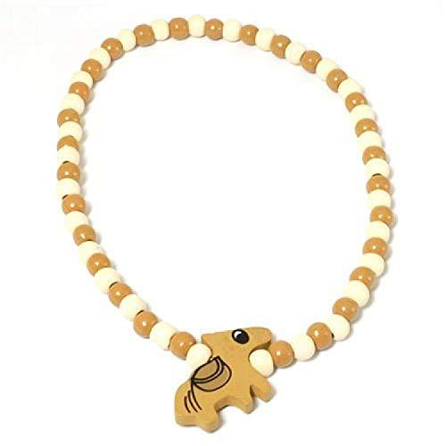 Kinder Perlen Halsband mit einem bemalten Holzpferd