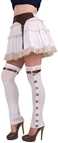 Fancy Me Damen Erwachsene Steampunk Lang Gamaschen Strümpfe Wildwest-Cowgirl Maskenkostüm Outifit Zubehör