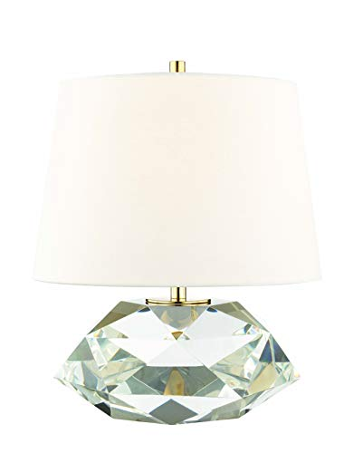 Hudson Valley Lighting L1038-AGB Henley 1-Light 18 InchH Table Lamp, Aged Brass Finish