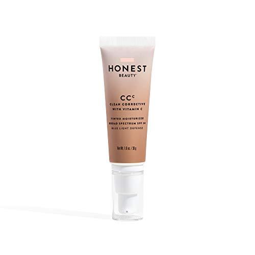 Honest Beauty Clean Corrective with Vitamin C Tinted Moisturizer Broad Spectrum SPF 30, Medium | VEGAN | 6-in-1 Multitasker | Blue Light Defense | Chemical Sunscreen Free & Dermatologist Tested | 1oz