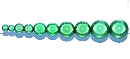 40 pcs 3D Perle miracle illusion Perlen in Tube, rund, 8 mm, acryl, grün, 8 mm