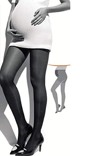 PREMAMA 70 VARICEL panty de compresión media (11-15 mmHg) premama, proporciona un masaje activo que alivia las molestias circulatorias. También previene la aparición de varices. (NEGRO, XL)
