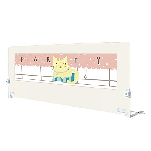 Sänggitter HUO barn fallskydd säng skydd säng skena för småbarn lätt bärbar sängskyddsnät utdragbar (färg: Vit, storlek: 180 cm)