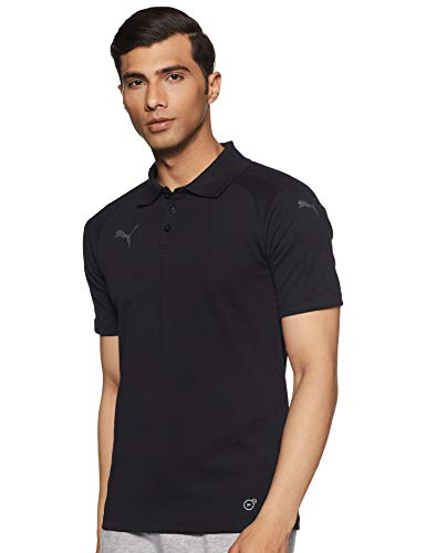 PUMA Erwachsene Ascension Casuals Polo Poloshirt, Black, L