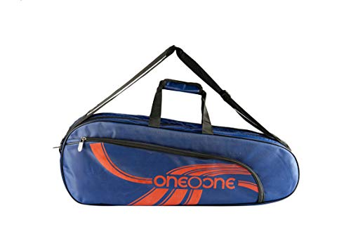 One O One - Lines Lite Collection Double Compartment Blue + Red Racket KitBag (Badminton/Tennis/Squash)